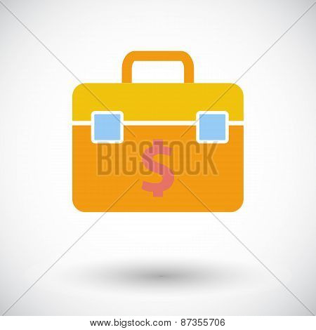 Briefcase single icon.