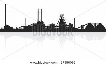 Mineral fertilizers plant isolated on white.
