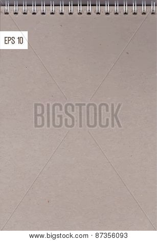 detailed realistic background - a sheet of notebook on a spring craft paper texture