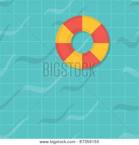 seamless pattern swimming pool. Top view. Flat design.