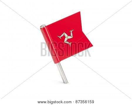 Flag Pin Of Isle Of Man