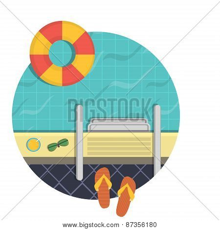 illustration - a swimming pool, a top view.