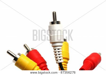 Av Cable Isolated On White Background