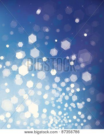 Vector glitter blue background.