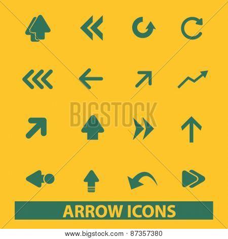 arrow, direction icons set, vector