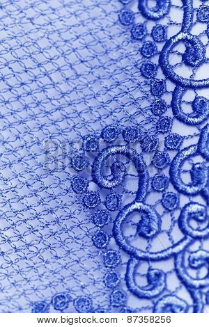 Decorative Blue Lace