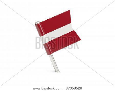 Flag Pin Of Latvia