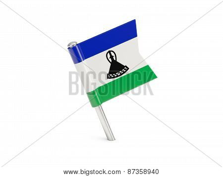 Flag Pin Of Lesotho