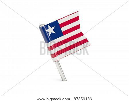 Flag Pin Of Liberia