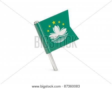 Flag Pin Of Macao