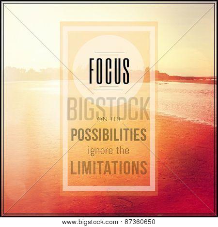 Inspirational Typographic Quote - Focus