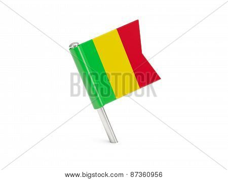 Flag Pin Of Mali