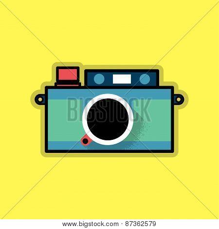 Retro Hipster Analog Camera
