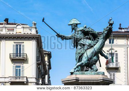 The equestrian statue of Fernando di Savoia, Turin