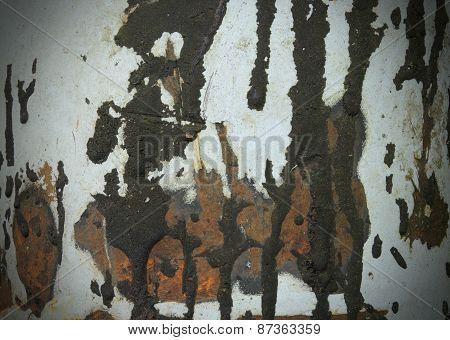 Rust Tar Stains Metal Texture Background