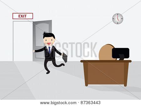 Get Off Work Concept