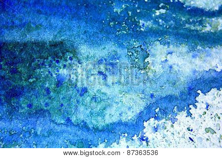 Blue with Green Watercolor Background 1