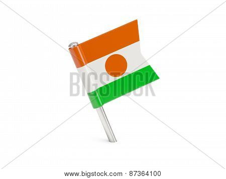 Flag Pin Of Niger