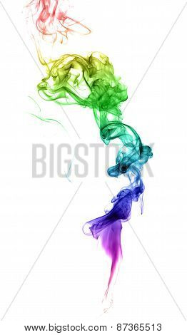 Abstract Multicolored Smoke