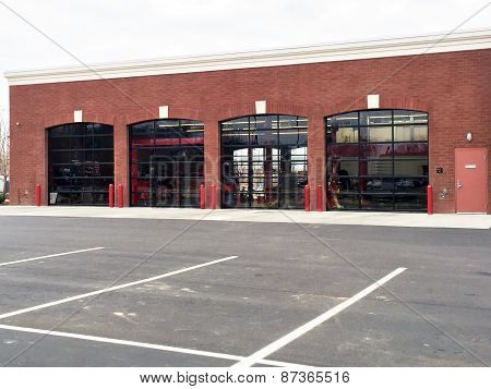 Exterior view of an automotive service repair facility
