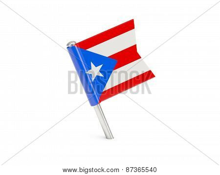 Flag Pin Of Puerto Rico