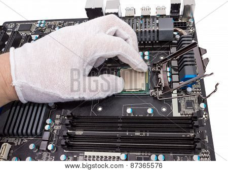 Electronic Collection - Installation Of Processor