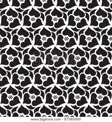 Floral Seamless Pattern Background. Retro Style. Wild Roses Stylized Illustration