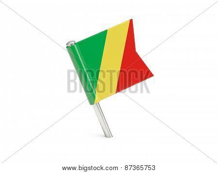 Flag Pin Of Republic Of The Congo