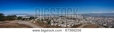 San Francisco Panoramic View From The Twin Peaks Viewpoint