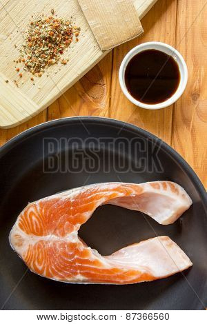 Trout In The Pan With The Sauce And Spices