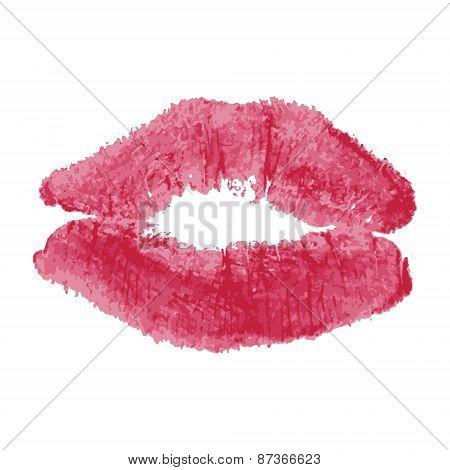 Grunge lipstick kiss