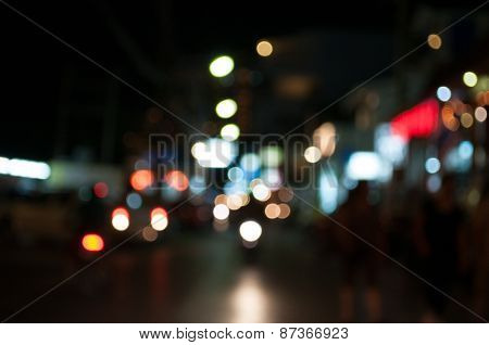 blur traffic lights