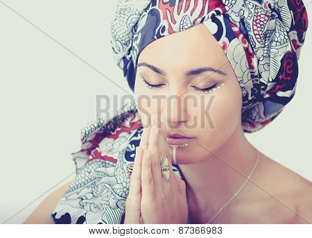 Portrait Of A Praying Girl