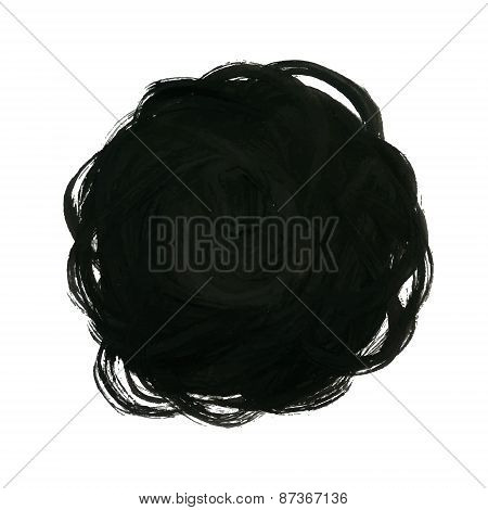 Black Yarn Ball Background