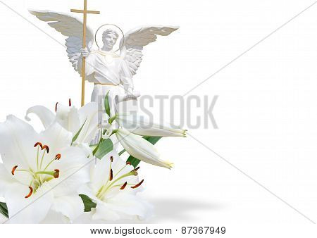 White Angel And White Lily