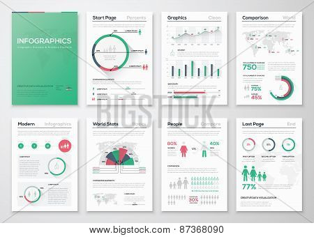 Infographic business brochures for creative data visualization
