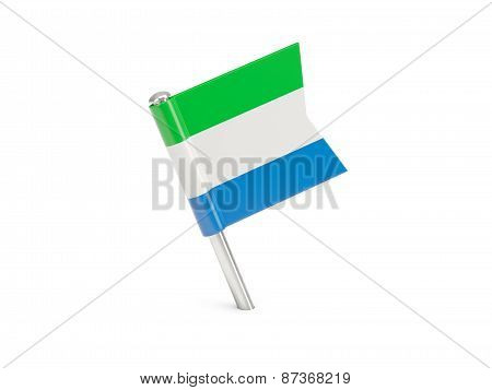 Flag Pin Of Sierra Leone