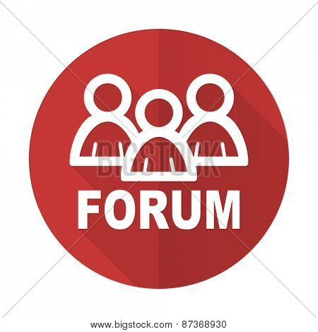 forum red flat icon