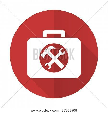 toolkit red flat icon service sign