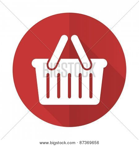 cart red flat icon shopping cart symbol