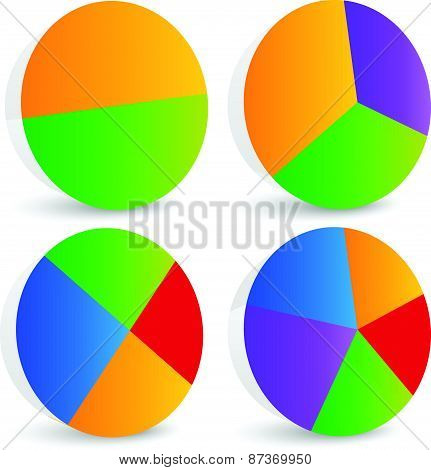 Pie Chart Vector. Pie Chart, Pie Graph Elements