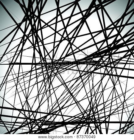Random Lines Abstract Background. Modern, Minimal (contemporary) Art Like Graphics
