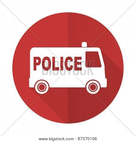 police red flat icon