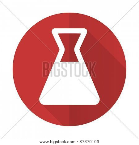 laboratory red flat icon