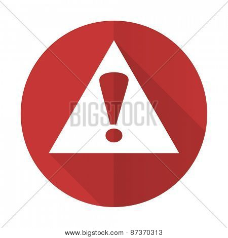 exclamation sign red flat icon warning sign alert symbol