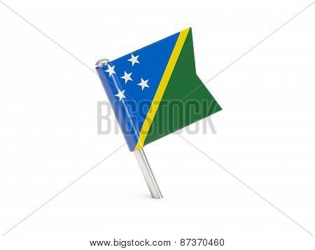 Flag Pin Of Solomon Islands