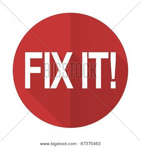 fix it red flat icon