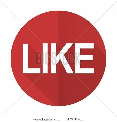 like red flat icon