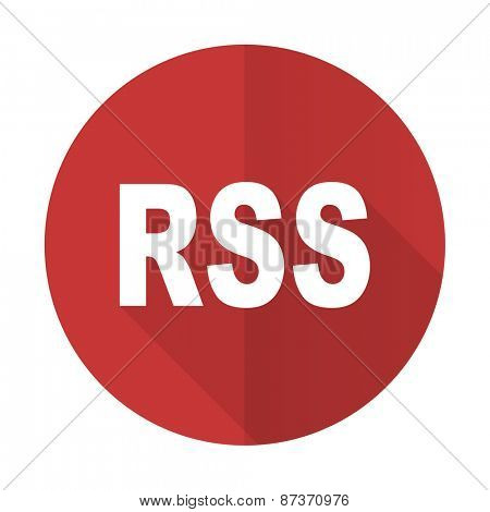 rss red flat icon