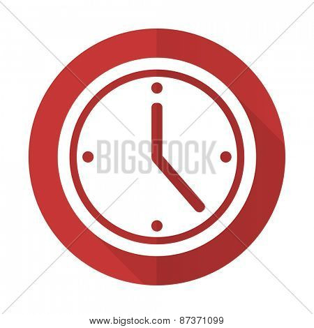 time red flat icon watch sign